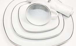 Geschirr Set 38-Teilig Tafelservice Essservice Kombiservice Geschirrset Kaffee Teller Set Porzellan für 6 Personen (Florene) - 1