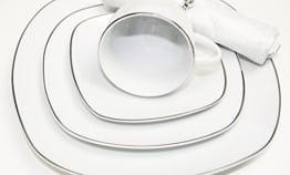 Geschirr Set 76-Teilig Porzellan Set Kafeeservice Teeservice Speiseservice für 12 Personen Kafee Geschirr in weiß - 1