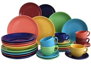 Geschirr Set bunt Creatable, 14011, Serie TOP colours, Geschirrset Kombiservice 30 teilig - 1