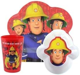 Zak Geschirr Set Feuerwehrmann Sam - Set Frühstück Geschirrset 3-teilig - 1