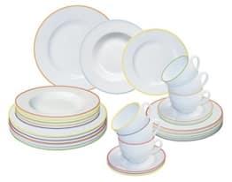 Geschirr Set Kaffee- und Tafelservice GRAZIOSO, 30-teilig, Porzellan, rund, bunt, design I love® - 1