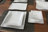 Geschirr Set 6 Personen Porzellan 26 tlg Tafelservice Eckig Teller Set Geschirr 6 Personen Esservice ESTA - 1