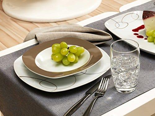geschirr set oval ritzenhoff breker kombiservice alina marron 30 teilig porzellangeschirr. Black Bedroom Furniture Sets. Home Design Ideas