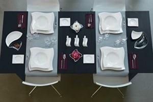 Porzellan Geschirr Set Villeroy & Boch NewWave Tafel-Set / Edles Tafelgeschirr aus Porzellan in modernem Design / 12 teilig für 6 Personen - 5